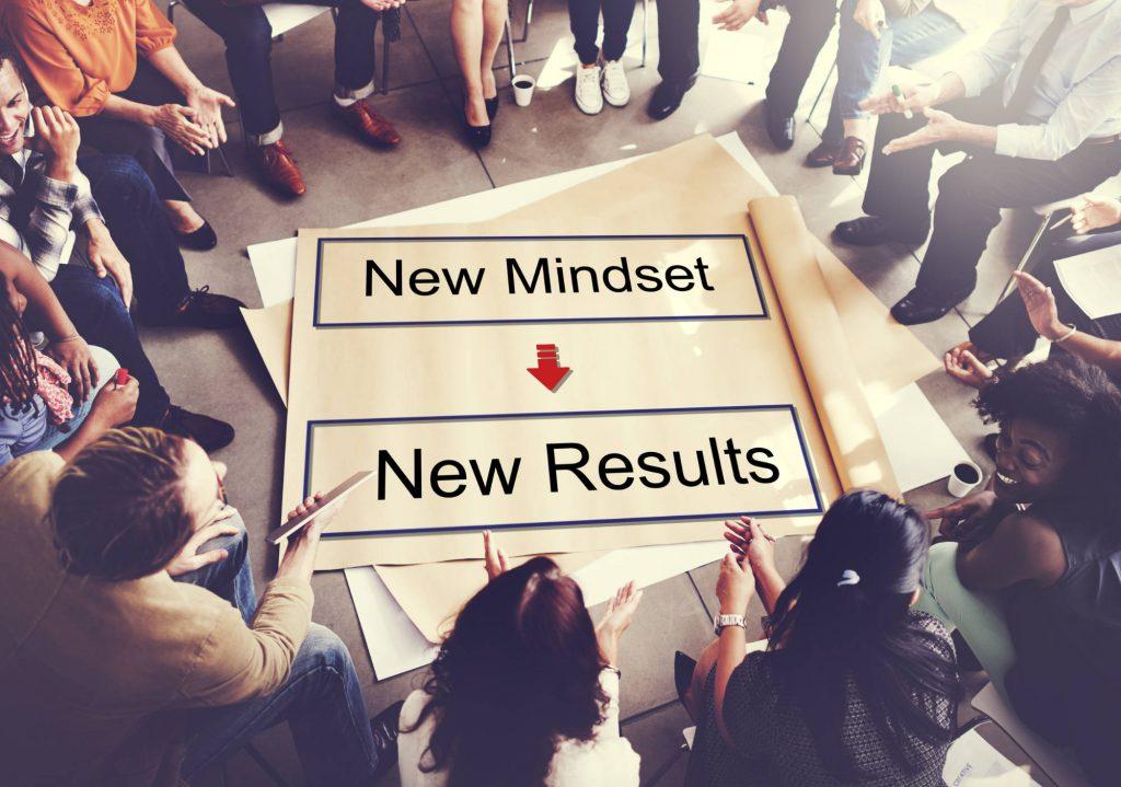 Leadership Coaching - Mindset Opposite Positivity Negativity Thinking Concept